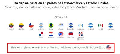 Países Cobertura Internacional