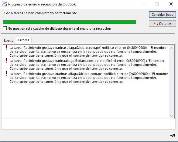 Usando el aplicativo Outlook