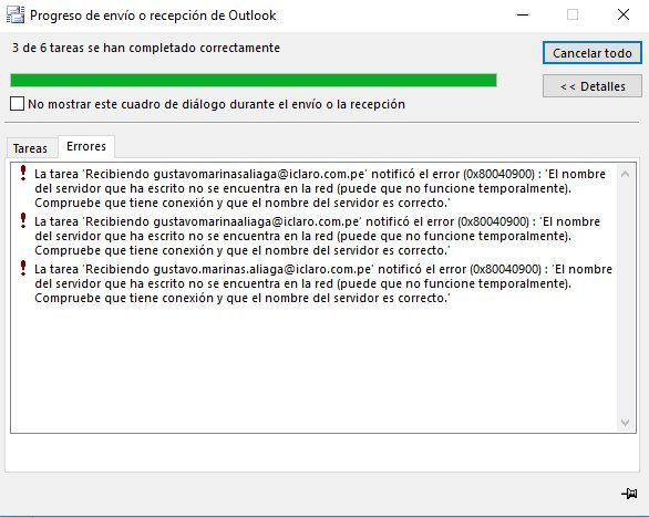Usando el aplicativo Outlook