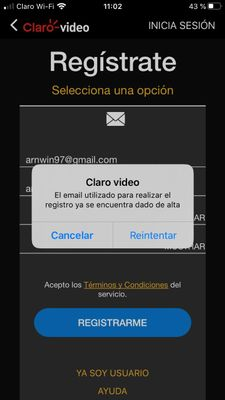 Registro con Gmail
