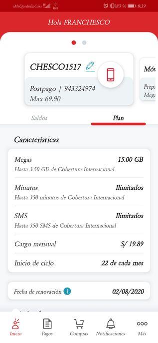 Cargo mensual 19.89 y si mi cargo es 0??