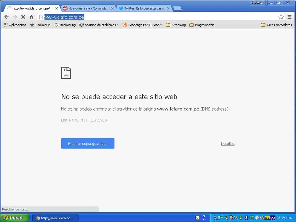 Usando Navegador Chrome en Win XP