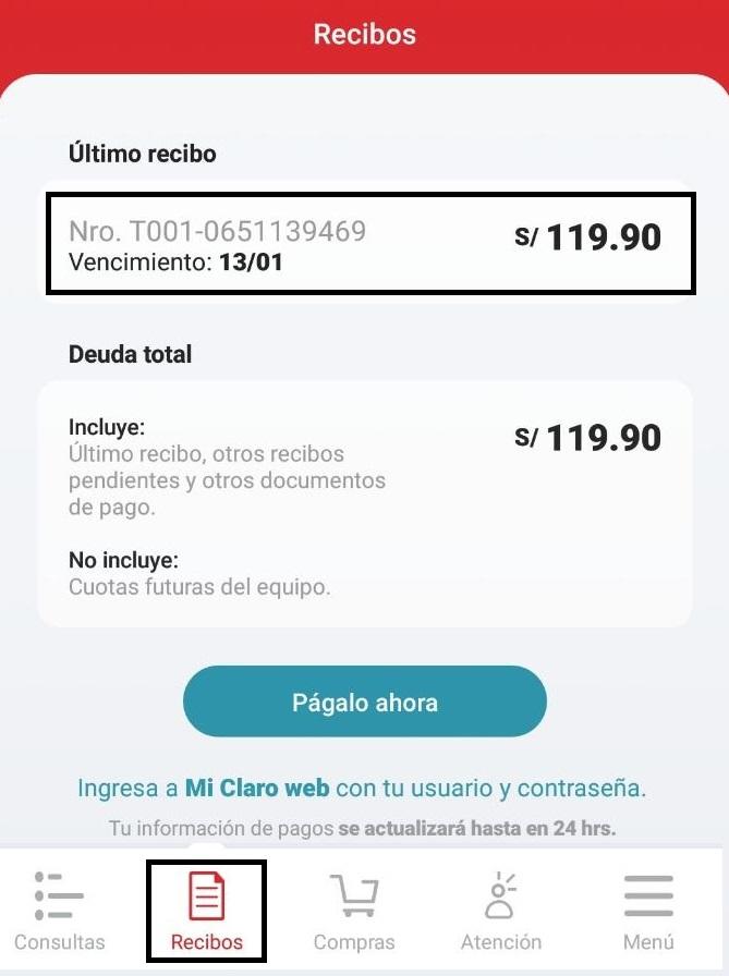 fbf2171bb5b Solucionado: ¿A qué número debo marcar para saber mi deuda y pa... - Comunidad  Claro Perú