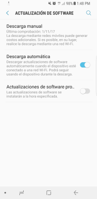 Reciba las actualizaciones automáticas en su móvil